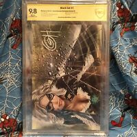 Black Cat #1 SS, CGC, CBCS Parrillo, Horn, Hughes 9.4-9.8