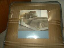 new Simply Vera Wang modern stripe 4pc QUEEN comforter SET gold kohls comfort