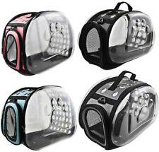 Pet Dog Cat Travel Carrier Bag Puppy Capsule Clear Crates Foldable Shoulder Bags