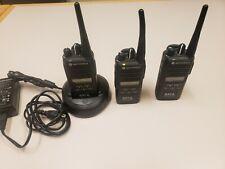 Lot Of 3 Motorola Cp185 Twoway Radio Uhf 16 Ch Aah03rdf8aa7an