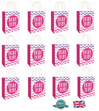 12 x HEN PARTY BAG Printed Paper Bag WEDDING Gift Bag BRIDE TRIBE Bags (C51 397)