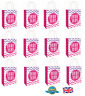 12 x HEN PARTY BAG Printed Paper Bag WEDDING Gift Bag BRIDE TRIBE Bags (C51 397)