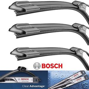 3 Bosch Clear Advantage Wiper Blade Size 18 /18/ 13 Front Left - Right and Rear