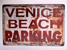 VENICE BEACH PARKING METAL TIN SIGNS vintage cafe pub bar garage decor plaque