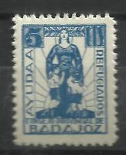 3011A-SELLOS LOCALES ESPAÑA GUERRA CIVIL 1937 BADAJOZ REFUGIADOS AYUDA.