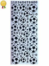 SOCCER BALLS Peel Off Stickers Football Scores Numbers Sports Card Making Black