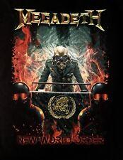 MEGADETH cd lgo Th1rt3en NEW WORLD ORDER Official SHIRT MED New thirteen