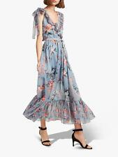French Connection BNWT ~Cecile~ Dress UK 12 ~Wedding~ Grey Floral Maxi Midi Boho