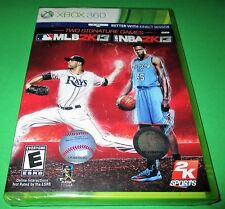 MLB 2K13/NBA 2K13 Combo Pack Microsoft Xbox 360 *Factory Sealed! *Free Shipping!