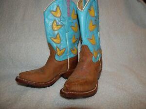 "Macie Bean ""Kemo Sabe"" Western Cowgirl Boots Girls Kids Snip Toe Size 9"