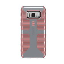 "Speck Samsung Galaxy S8 (5.8"") Dual Layer CandyShell Grip Case - Gray/Orange"