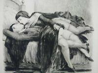 Rare curiosa Paul-Emile Bécat gravure parfait état estampe