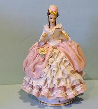 Vintage DRESDEN  Porcelain  Young Lady Figurine reading Letter