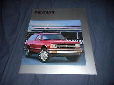 1988 Chevy Chevrolet S10 Blazer Color Brochure Catalog Prospekt