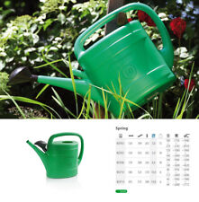 watering can green plastic with diffuser 4 sizes garden patio