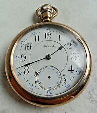 Vintage Antique E. Howard 17J 5 Adj 16 Size Open Face G/F Pocket Watch 4 REPAIR
