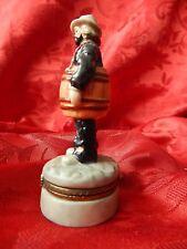 Flambro Emmett Kelly Jr Clown Barrel Figurine - Trinket Pill Ring Box - w/ Box