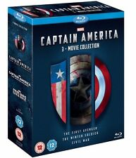 Captain America 1-3 Triplepack [3 Movie Collection] [Blu-ray] [Region Free]✔NEW✔