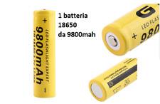 Batteria 18650 Ricaricabile Litio 9800mAH 3,7v power bank sigaretta elettronica