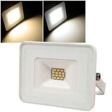 flacher LED Fluter 10W IP65 Hof Garten Licht Garage Leuchte Haus Lampe flach