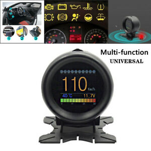 A205 OBD OBD2 Head Up Display HUD Car Digital Temperature Speedometer Gauge Part