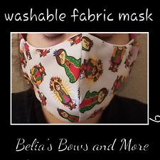 Adult regular.La Virgen de Guadalupe Washable Fabric Mask with pocket