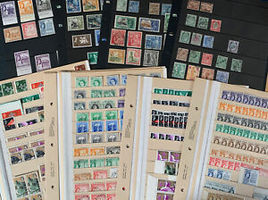 Old stamps from Malta - Mint & Used on 8 Stock Cards - 1885 to 1959