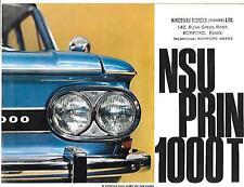 NSU PRINZ 1000TT SALES BROCHURE EARLY 70's