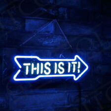 "13""x5""This Is It Neon Sign Light Store Open Real Glass Handmade Wall Poster Art"