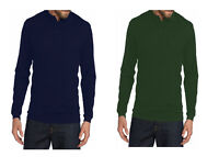 Set of 2 Saddlebred Mens Long Sleeve Soft Collared Polo Shirts Green Navy S