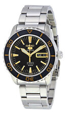 Seiko 5 Sports SNZH57 Men's Stainless Steel Black Dial 23 Jewels Automatic Watch