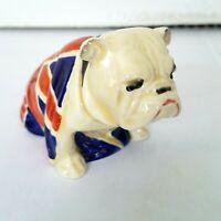 Royal Doulton Union Jack Bulldog Figurine RN 645658 13 England 3 1/2 x 2/12 1940