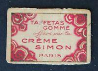 Ancienne carte parfumée CREME SIMON poudre carnet perfume card