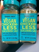 Trader Joe's Vegan Chicken-Less Seasoning Salt Blend Pack of 2