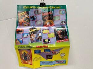 Tecmo TEC-NES-US-1 NES Original Nintendo POSTER ONLY Authentic Folding Wear
