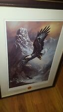 SIGNED PRINT TED BLAYLOCK SAVE THE EAGLE, PROUD AND FREE BY THE FRANKLIN MINT