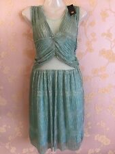 River Island Ladies Green Dress Summer/party Size:16 UK New