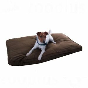 Dog Mattress Bed Cosy Mocha Brown Dark Brown / Black Removable Cover Anti Slip