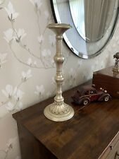 Traditional Wooden Pillar Candle Holder ~ Extra Large Decorative Candle Stick