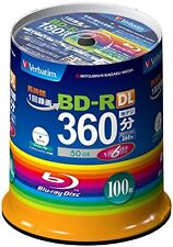 Verbatim Blu-Ray 50GB 6X Speed BD-R DL Recordable Disc 100 Pack Inkjet Printable