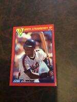 1989 Score Hottest 100 Stars New York Mets Baseball Card #50 Darryl Strawberry
