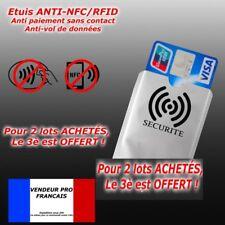etui pour protéger carte bancaire bleu visa sans contact