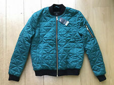 Dorothy Perkins Turquoise/Green Faux Fur Quilted Bomber Jacket Size 12 BNWT