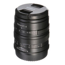 7artisans Manual Focus MF 55mm F/1.4 Prime Camera Lens for Fujifilm FX X-mount