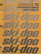 1978 SKI-DOO OLYMPIQUE SNOWMOBILE PARTS MANUAL 480 1071 00 (587)