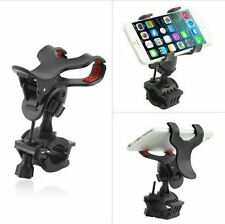 Bike Bicycle Motorcycle Mobile Cell Phone Holder Mount for Mobiles & GPS Black