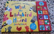What the Ladybird Heard by Julia Donaldson Sound Book - in excellent condition