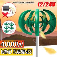 4000W 12V/24V 5 Cuchillas Viento Generador Turbina Eje Vertical Controlador !