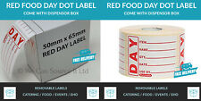 Prepped Food Day Dot Labels Catering Food Stickers-Roll of 500 Removable Labels