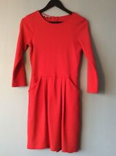 Hobbs Size 10 Jersey Dress Red/orange With Pockets